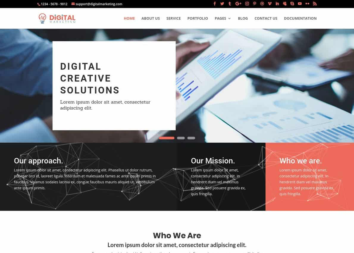 Digital Marketing Theme Divi Theme Example