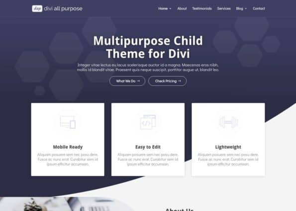 Divi All Purpose on Divi Gallery