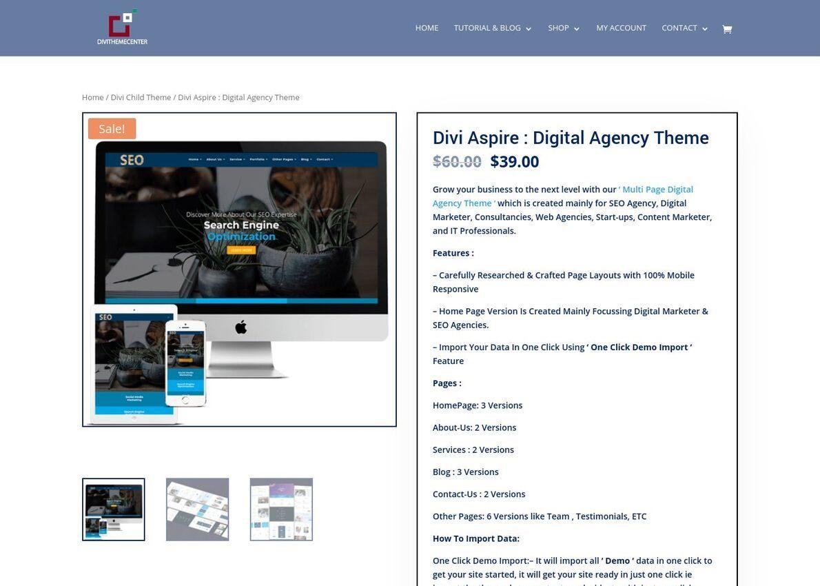 Divi Aspire : Digital Agency Theme Divi Theme Example