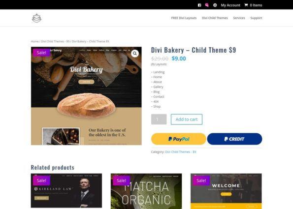 Divi Bakery Child Theme on Divi Gallery
