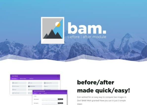 Divi Before/After Module – bam on Divi Gallery