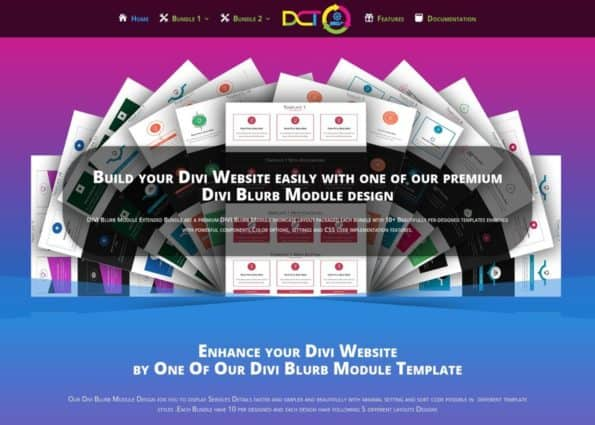Divi Blurb Module design on Divi Gallery