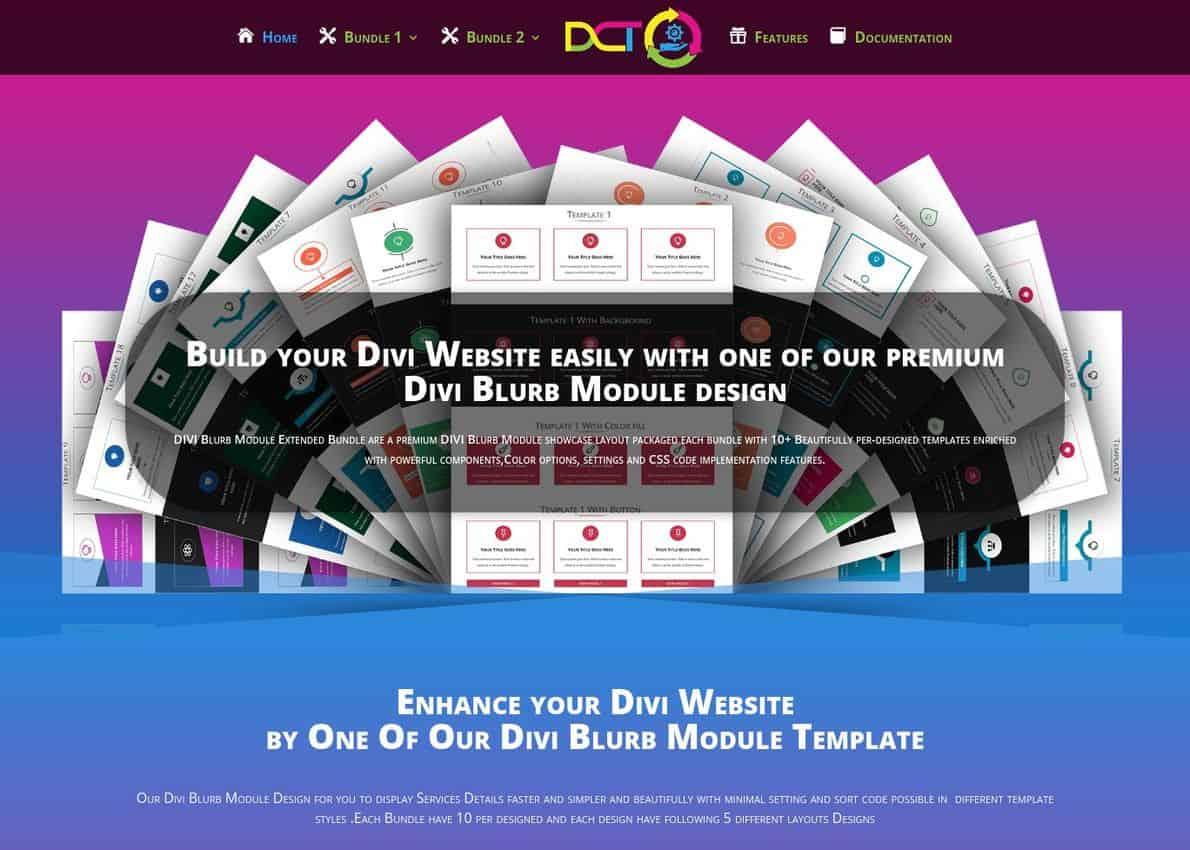Divi Blurb Module design Divi Theme Example