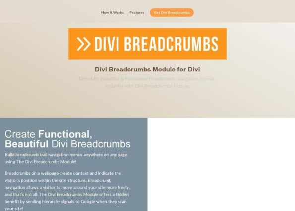 Divi Breadcrumbs on Divi Gallery