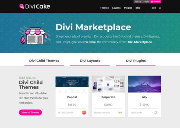 Divi Cake on Divi Gallery