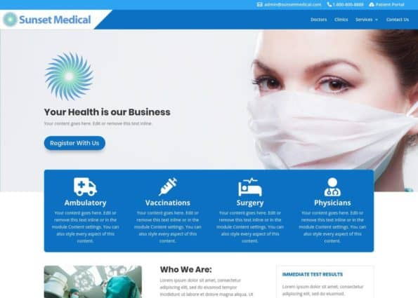 Divi Child Theme – Medical on Divi Gallery
