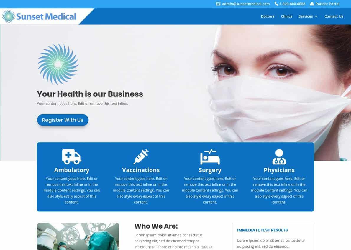 Divi Child Theme – Medical Divi Theme Example