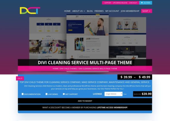 Divi Cleaning Services Multi-Page Child Theme on Divi Gallery