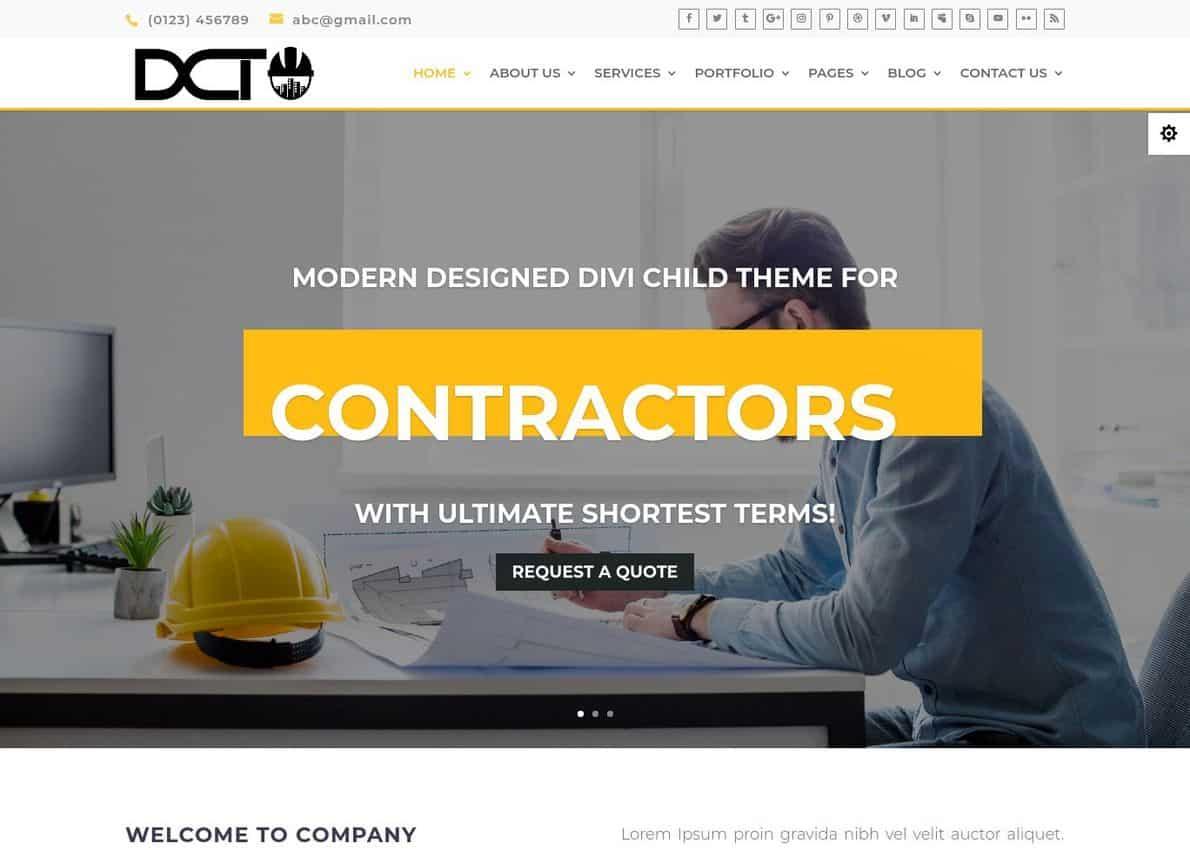 Divi Construction Divi Theme Example