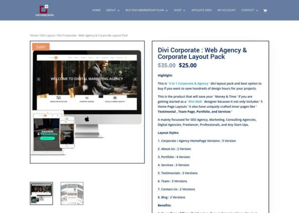 Divi Corporate : Web Agency & Corporate Layout Pack on Divi Gallery