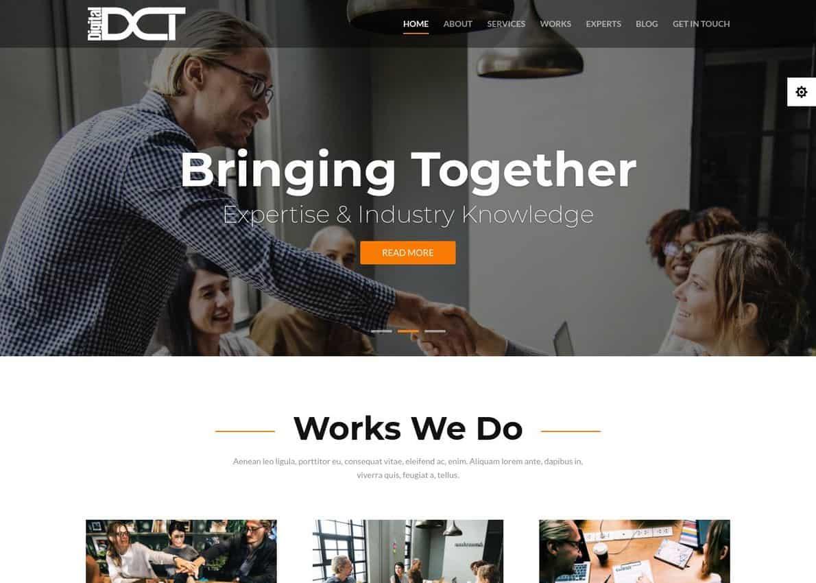 Divi Digital Agency Divi Theme Example