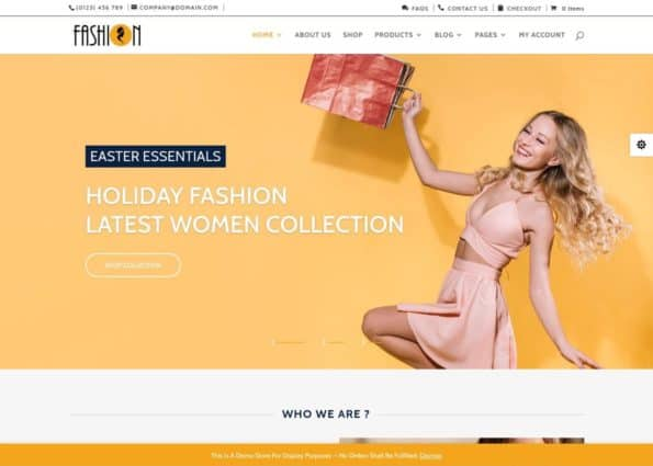Divi Fashion Woocommerce Child Theme on Divi Gallery