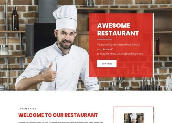 Divi Free Restaurant Layout on Divi Gallery