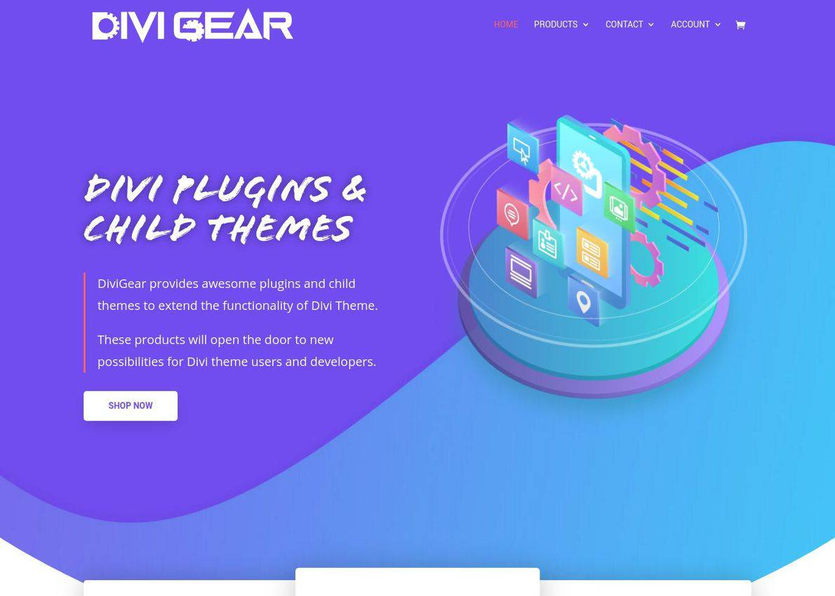 DiviGear: Divi Plugins & Divi Child Theme Divi Theme Example