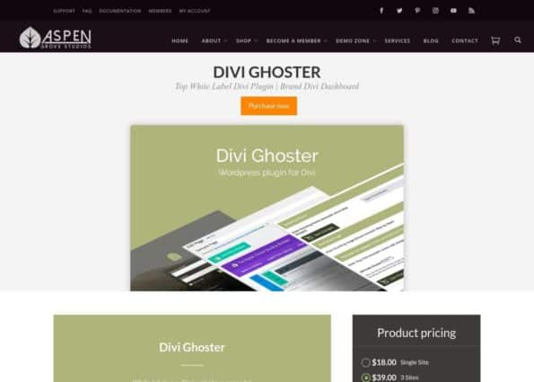 Divi Ghoster on Divi Gallery