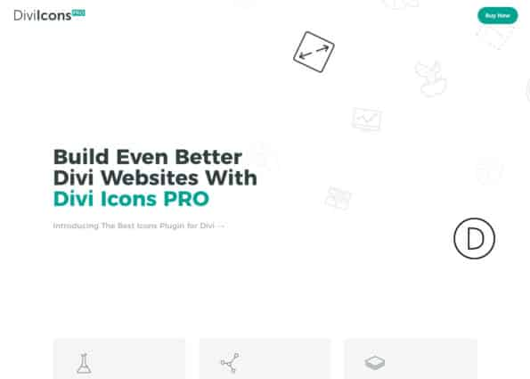 Divi Icons on Divi Gallery