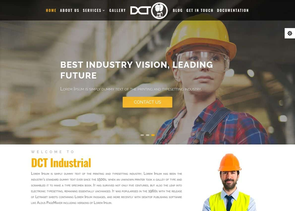 Divi Industrial Divi Theme Example