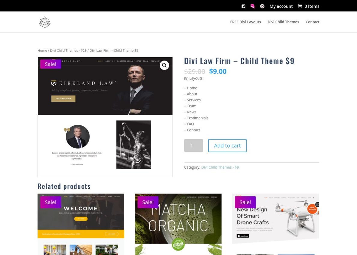 Divi Law Firm – Child Theme Divi Theme Example