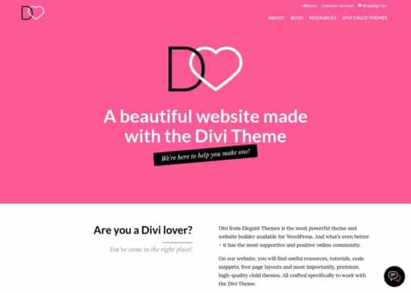 Divi Lover on Divi Gallery