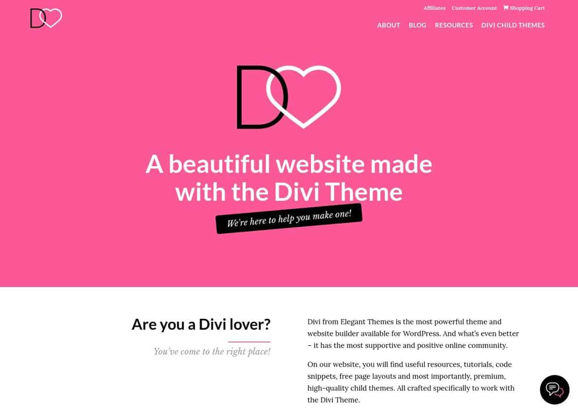 Divi Lover Divi Theme Example