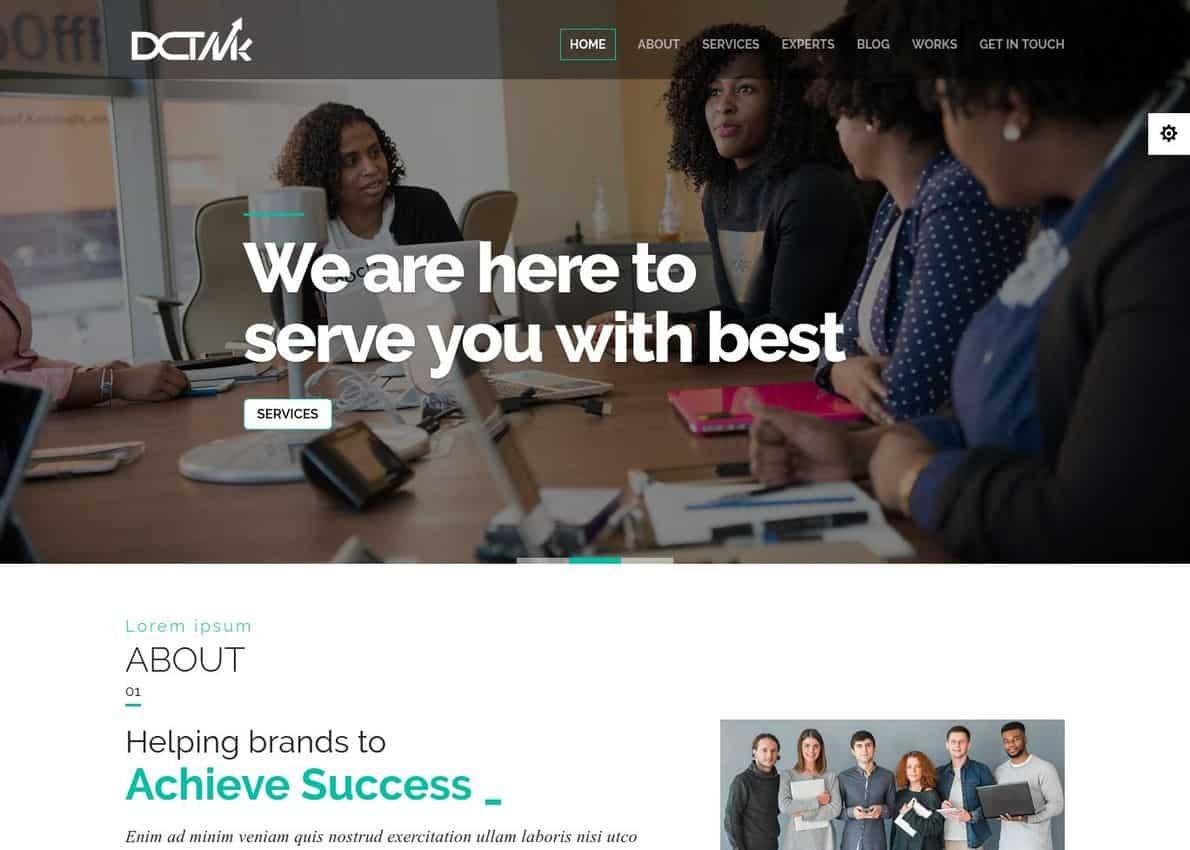 Divi Marketing Agency Divi Theme Example