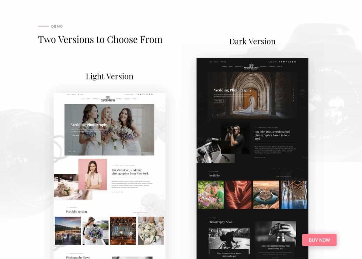 Divi Photography Divi Theme Example