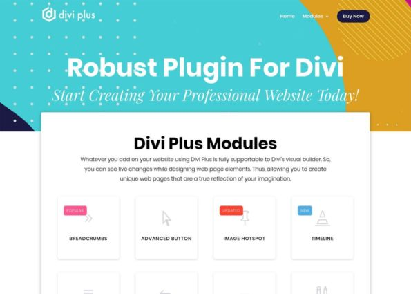 Divi Plus on Divi Gallery