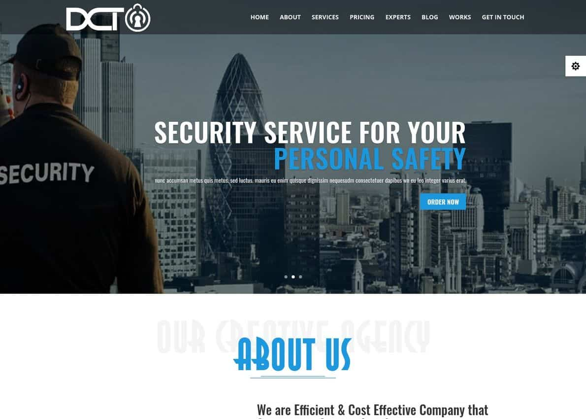 Divi Security Agency One Page Multipurpose Child Theme Divi Theme Example