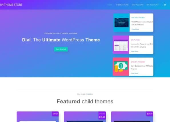 Divi Theme Store on Divi Gallery