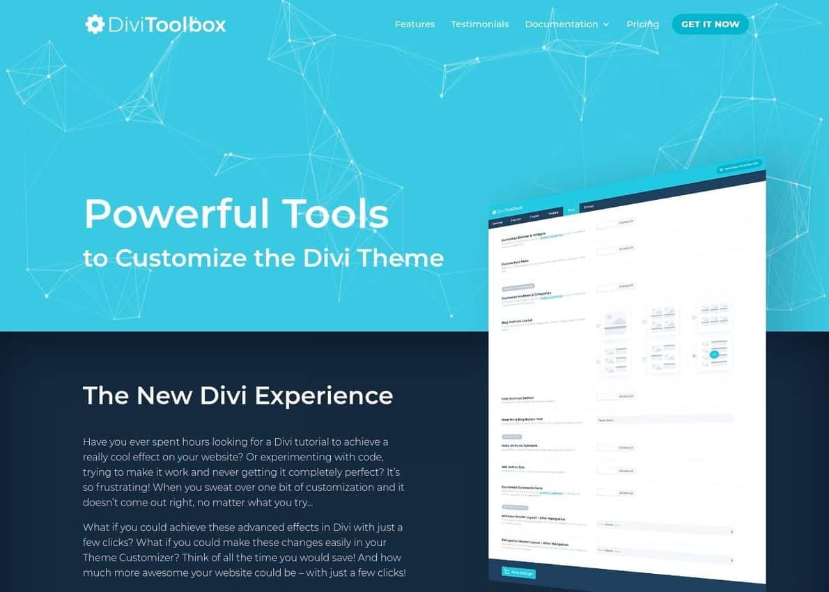 Divi Toolbox Divi Theme Example