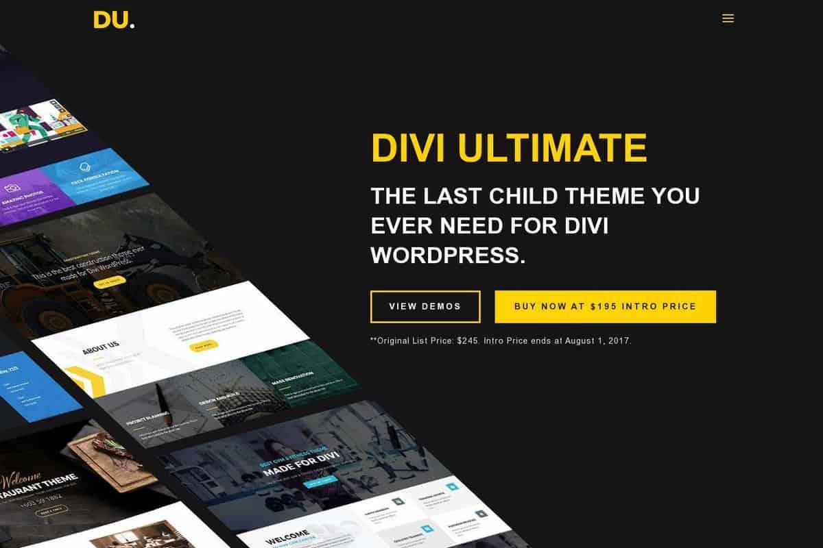 Divi ultimate landing page divi child theme example divi gallery - Divi child theme ...