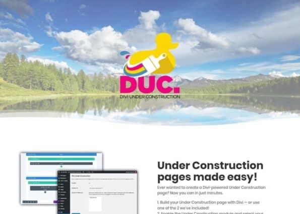 Divi Under Construction – DUC on Divi Gallery