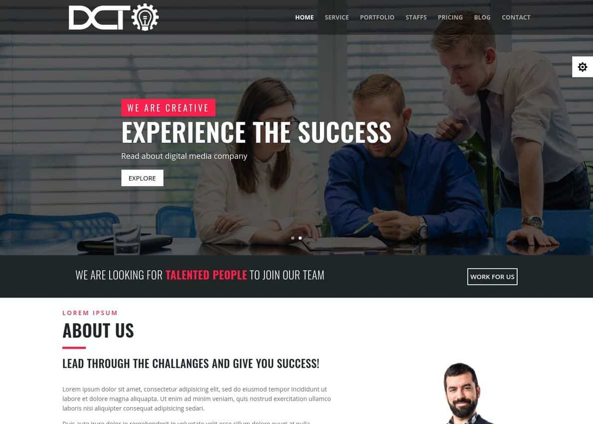 Divi Web Agency Divi Theme Example