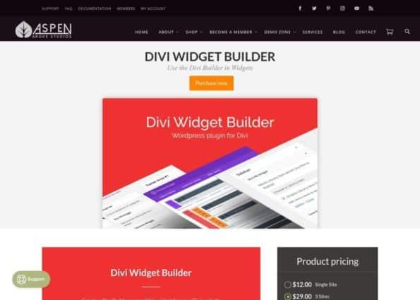 Divi Widget Builder on Divi Gallery