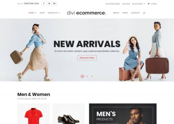 Divi eCommerce on Divi Gallery