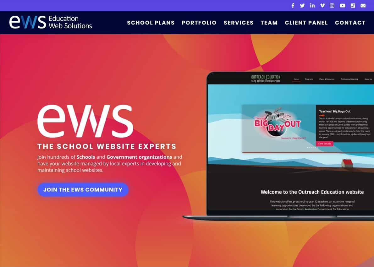 Education Web Solutions Divi Theme Example