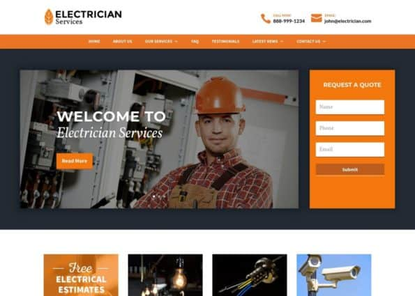 Electrician Theme on Divi Gallery