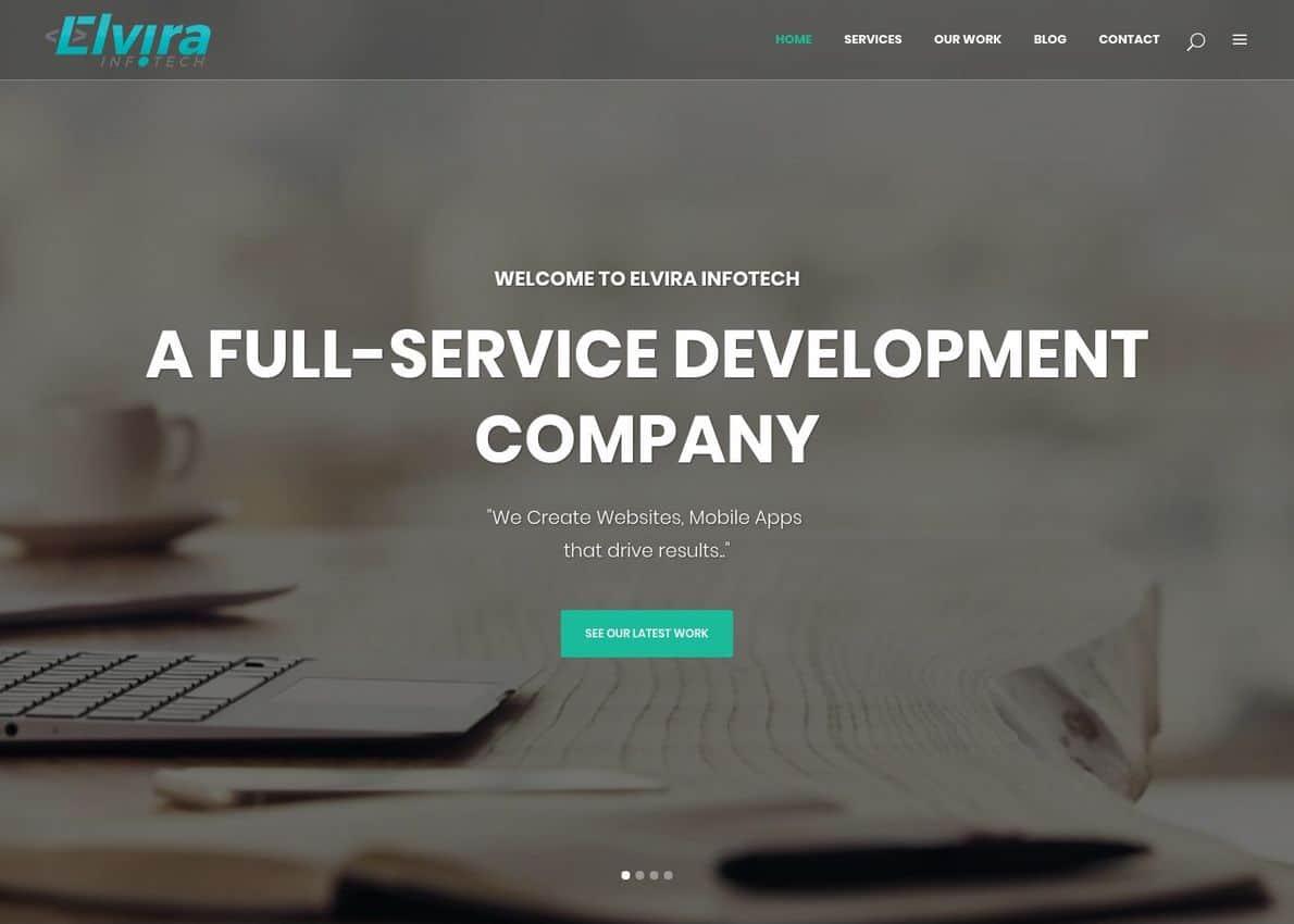 Elvira infotech Pvt. Ltd. Divi Theme Example