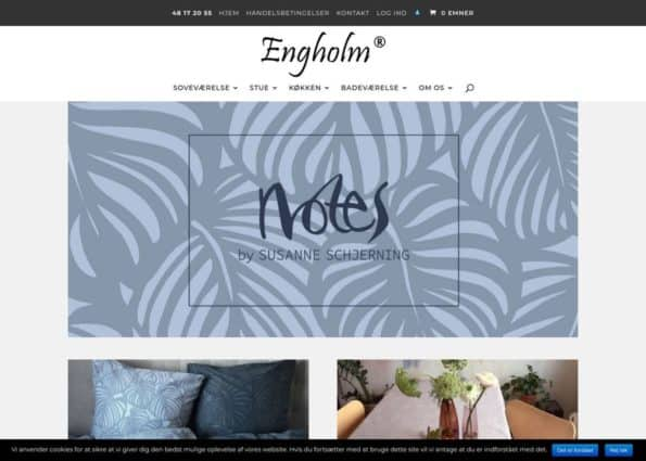 Engholm Textiles on Divi Gallery
