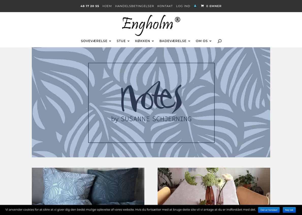 Engholm Textiles Divi Theme Example