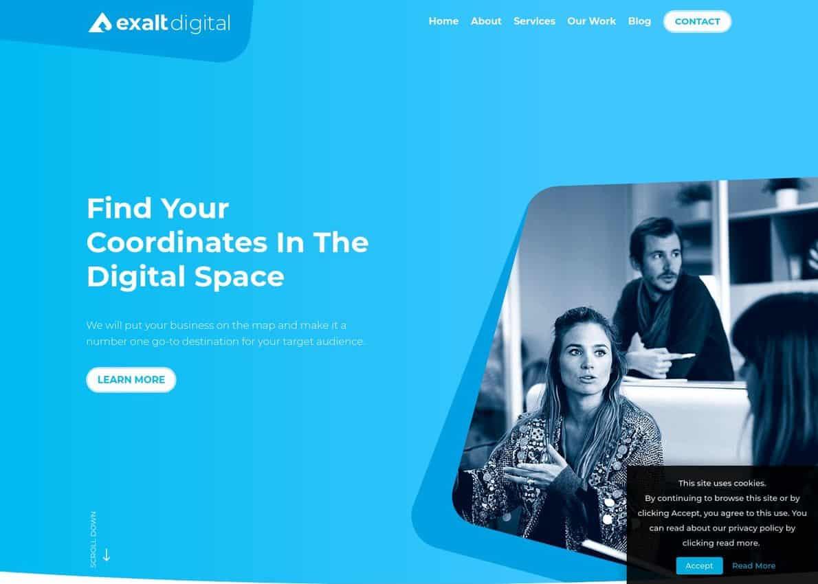 Exalt Digital Divi Theme Example