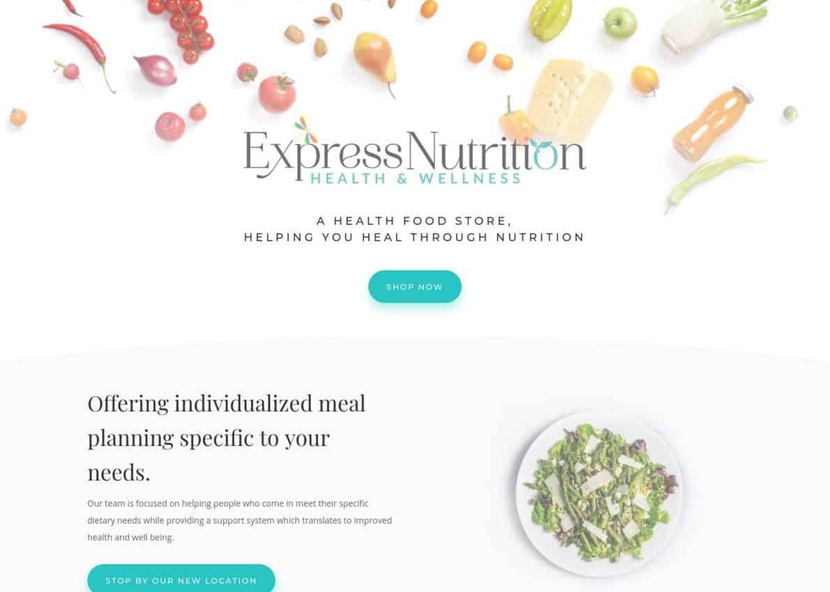 Express Nutrition Divi Theme Example