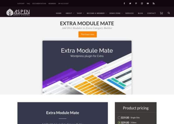 Extra Module Mate​​​​​​ on Divi Gallery