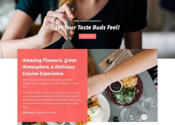 Foodies – Modern Restaurants Layout Bundle on Divi Gallery