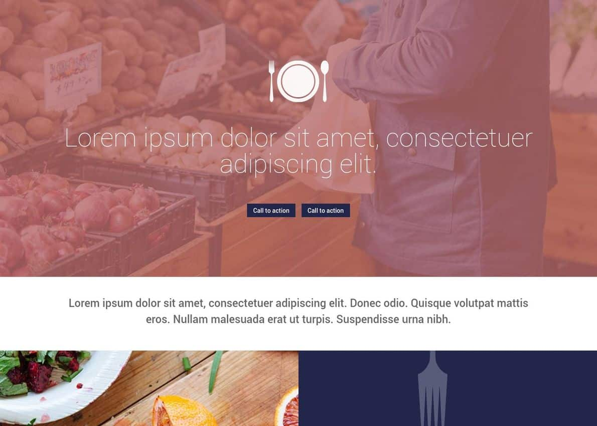 Foodies Homepage Layout Divi Theme Example