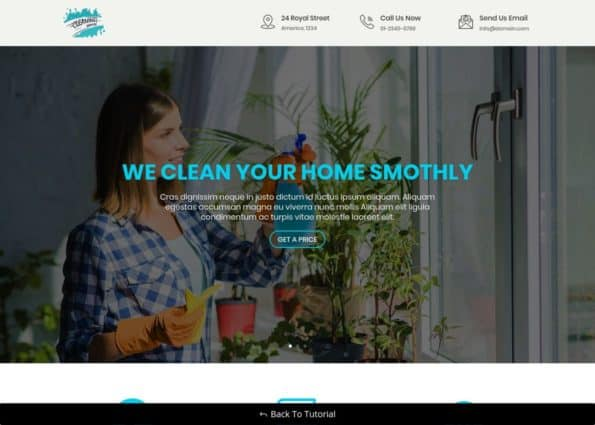 Free Divi Cleaning Services Layout on Divi Gallery