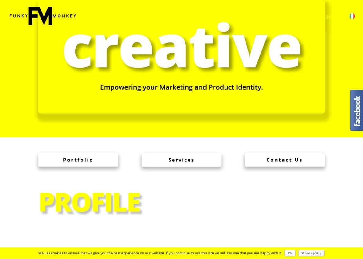Funky Monkey Creative Branding and Designs Divi Theme Example