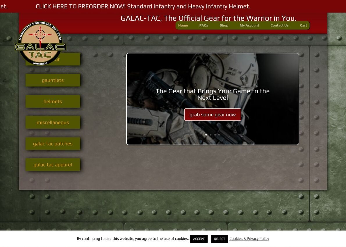 Galac Tac Divi Theme Example