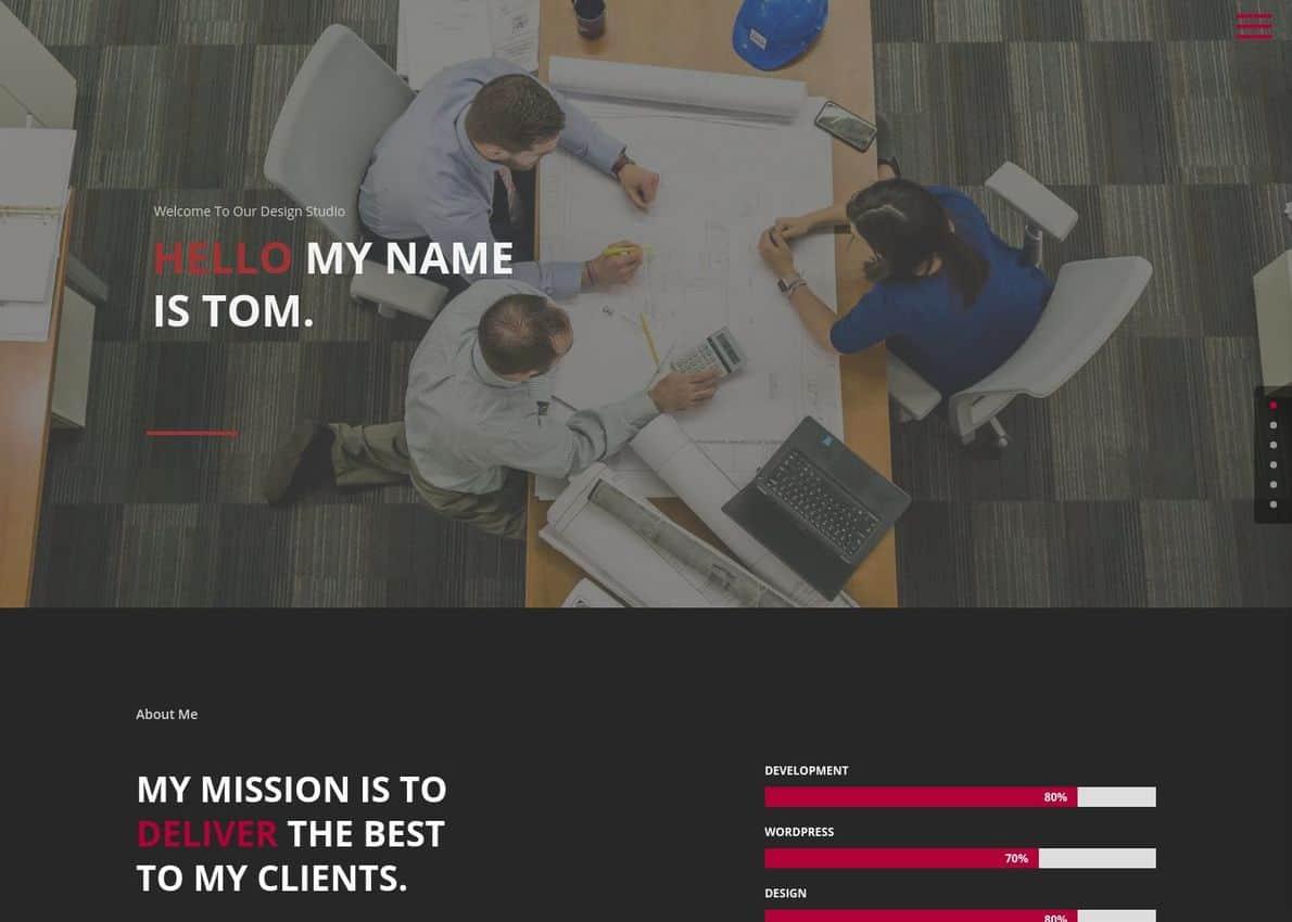 Genius – Divi Resume Child Theme Divi Theme Example