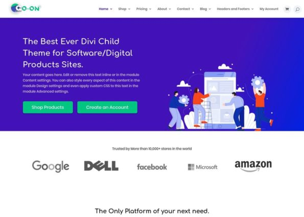 Go-On 2.0 on Divi Gallery